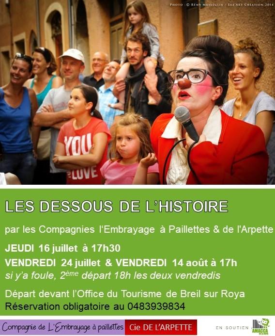 Les dessous de l'Histoire - Cies de l'Embrayage à Paillettes & de l'Arpette @ Office du Tourisme de Breil sur Roya